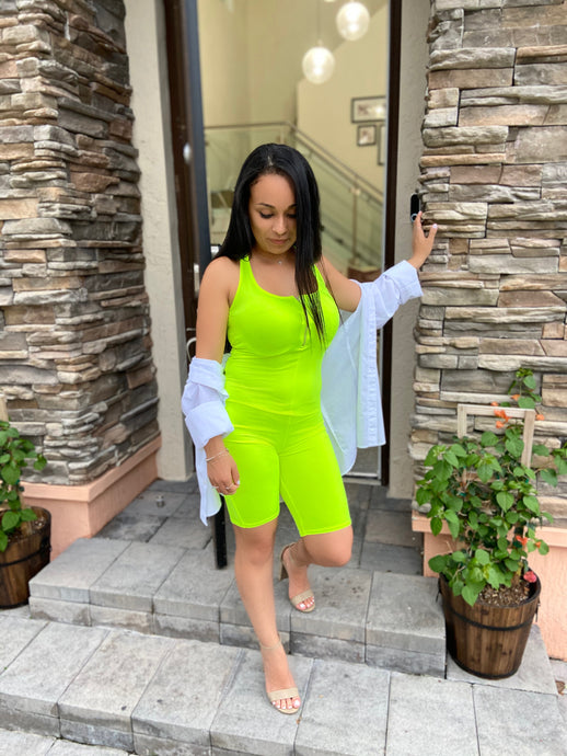 Playsuit Neon Lime
