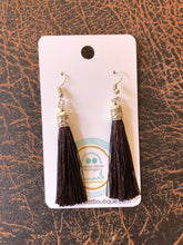 Load image into Gallery viewer, Black Tassel Earrings