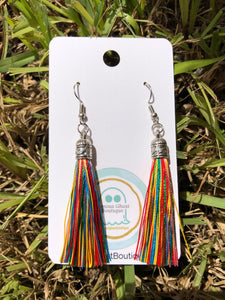 Rainbow Tassel Earrings
