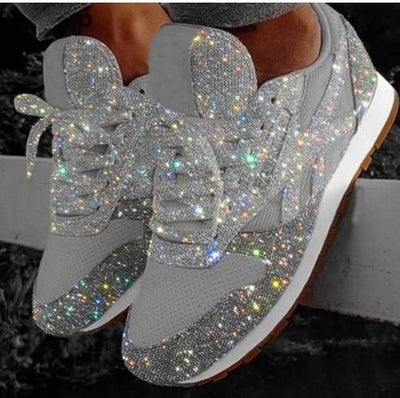 Crystal Sequined Casual Sneakers - GlitterLily