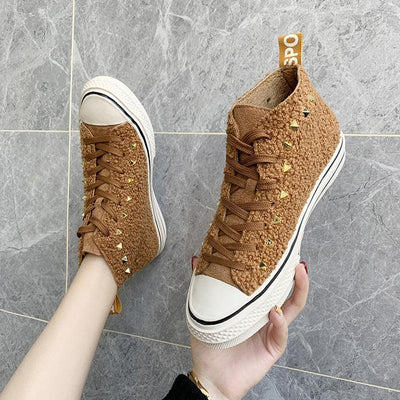 Fashion High-top Canvas Casual Sneakers - GlitterLily