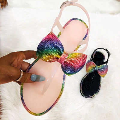 Stylish Rhinestone Flip-flops Bow Slippers - Shop Shiningbabe - Womens Fashion Online Shopping Offering Huge Discounts on Shoes - Heels, Sandals, Boots, Slippers; Clothing - Tops, Dresses, Jumpsuits, and More.