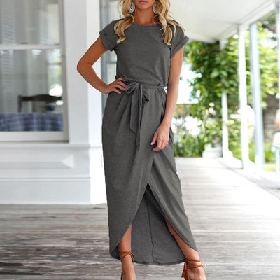 Fashion Split Irregular Maxi Dress - GlitterLily
