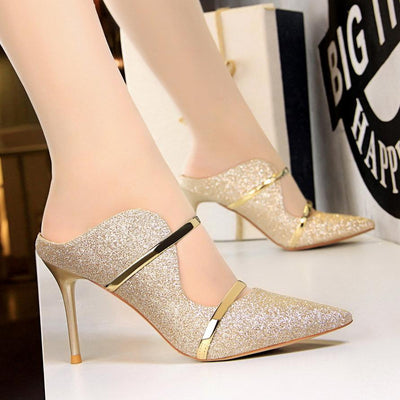 Nightclub Sexy Sequin High Heel Pumps - GlitterLily