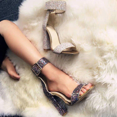 Fashion Shiny Buckled High Heels - GlitterLily