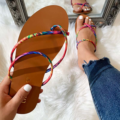 Fashion Strappy Flip Flop Sandals - GlitterLily