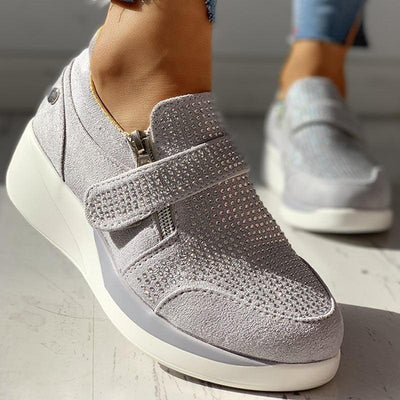Knitted Breathable Casual Muffin Sneakers - GlitterLily