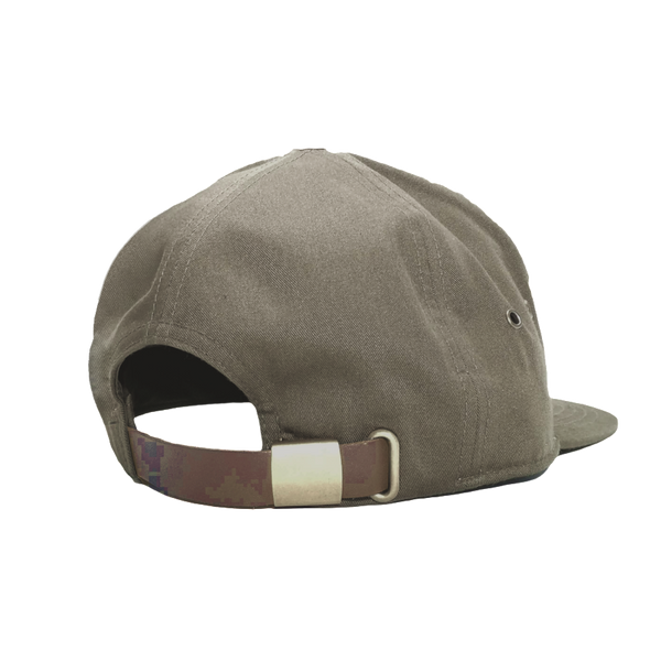 Olive Leather Hat