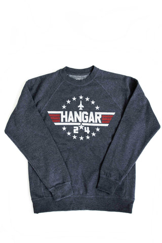 'Aviator' Crew Sweatshirt in Navy