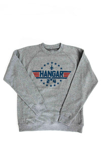 'Aviator' Crew Sweatshirt in Nickel