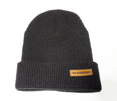Leather Logo Beanie