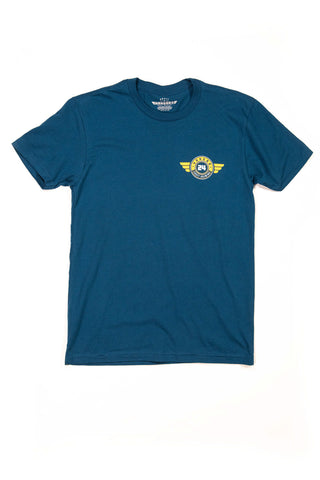 Men's 'Doubz' T-Shirt in Cool Blue