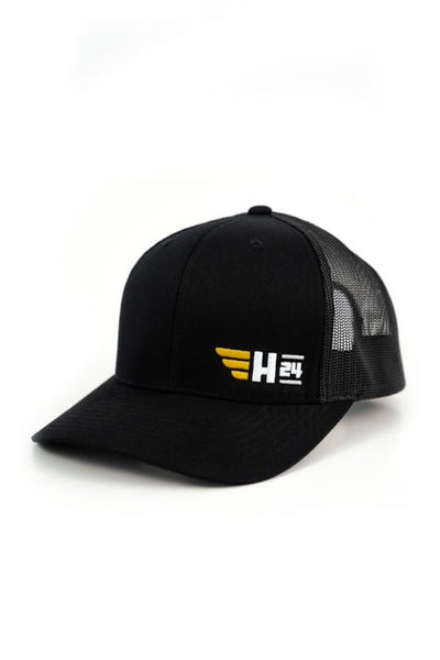H24 Embroidered Trucker Hat in Black (New!)