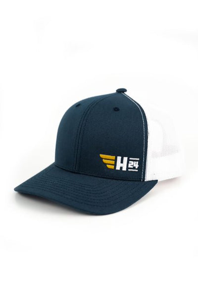 H24 Embroidered Trucker Hat in Navy/White (New!)