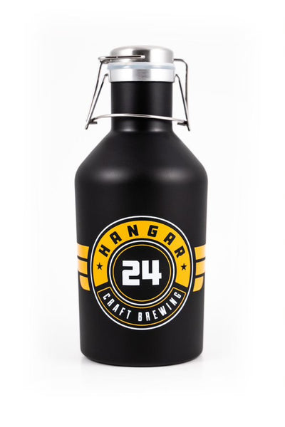 "Empty - ""The Growler"" - 2 Liter Stainless Steel (New Look!)"