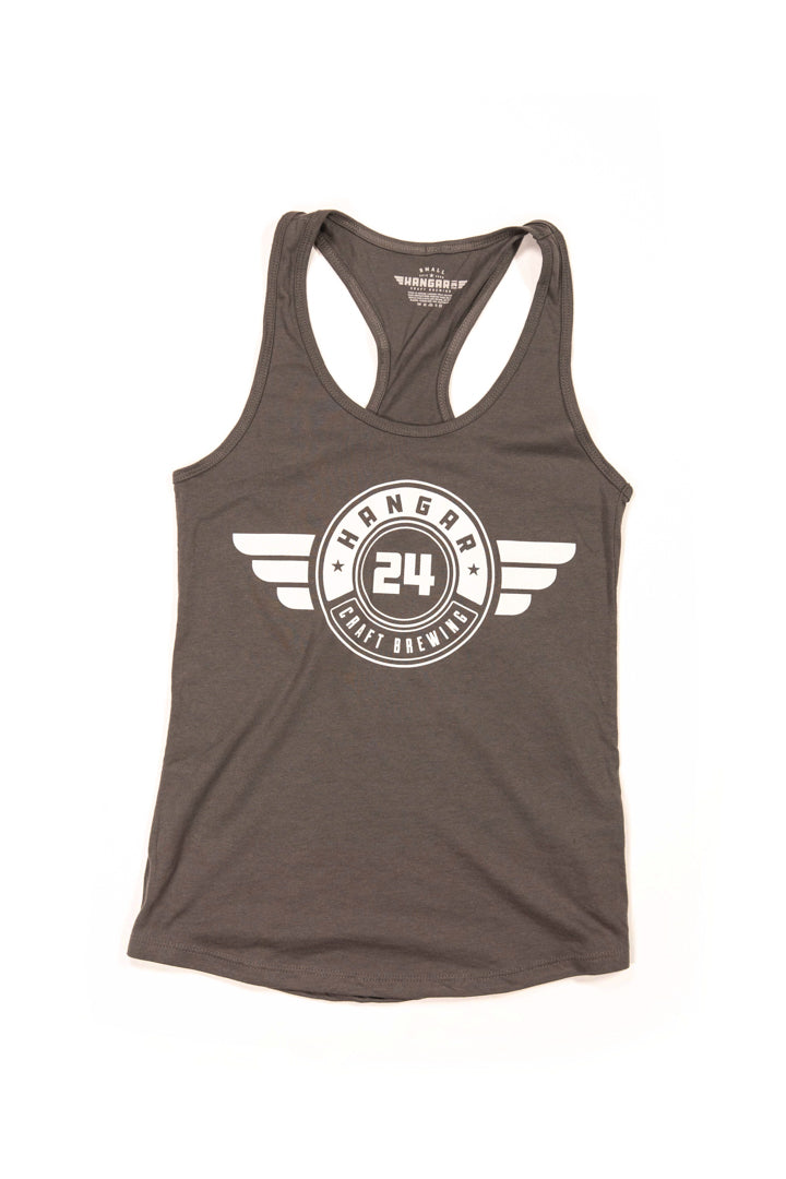 Women's 'Doubz' Tank Top in Dark Gray
