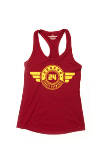 Women's 'Doubz' Tank Top in Cardinal