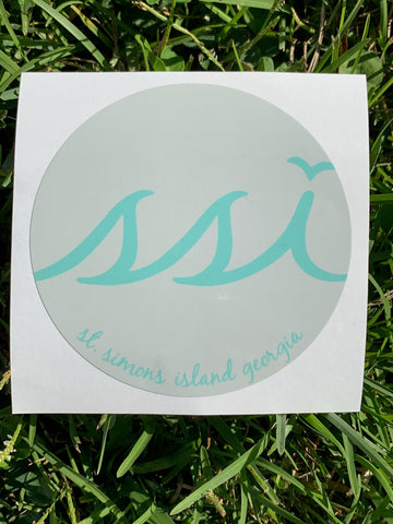 Sticker - Sand with Aqua logo