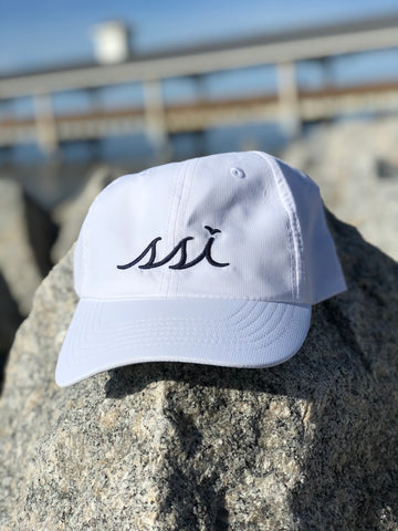 Hat - Imperial (Regular Size) - White hat / Navy Blue logo