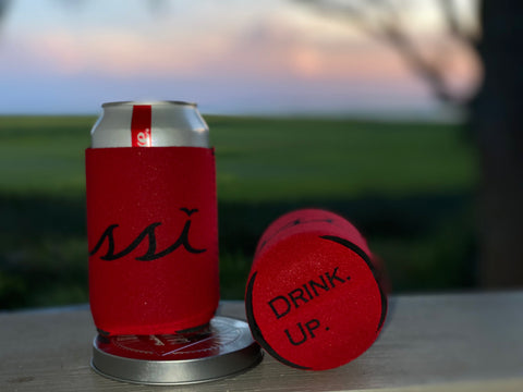 Koozie - Red with black logo