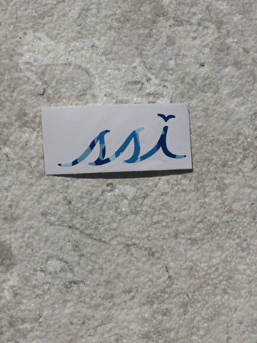 Sticker - Small Blue Camo Logo (3 Inches)