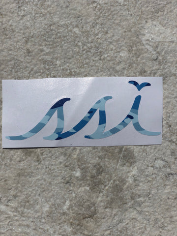 Sticker - Large Blue Camo logo (6 Inches)