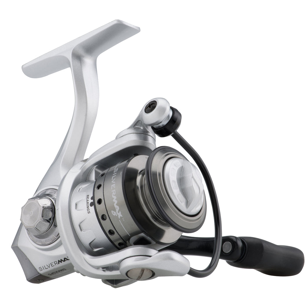 Abu Garcia Silver Max Spinning Reel 40, 5.1:1 Gear Ratio, 6 Bearings, 29