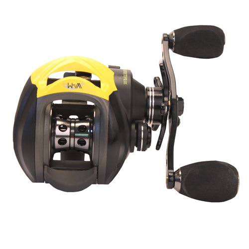 Eagle Claw Wright & McGill SR Victory II Casting Reel Low Profile, 7.0:1 Gear Ratio, 9+1 Bearings, Black, Right Hand