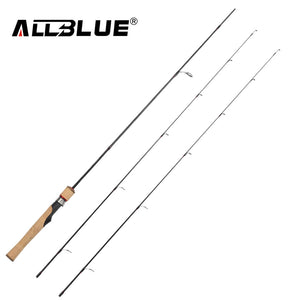 ALLBLUE Viking Spinning Rod UL/L 2 Tips 1.68m Ultralight 1/32-1/4oz 2-8LB Carbon Soft Fishing Rod pesca peche Fishing Tackle