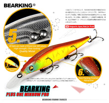 Load image into Gallery viewer, Great Discount!Retail fishing lures,assorted colors quality Minnow 110mm 14g,Tungsten ball bearking 2017 model crank bait