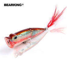 Load image into Gallery viewer, 2017 Bearking Hot Model Retail  fishing lures,hard bait assorted colors, popper 70mm 11g, Floating topwater baits