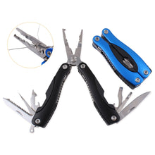 Load image into Gallery viewer, New Portable Folding Multifunctional Fishing Pliers Stainless Steel Scissors Line Cutter Remove Hook Fishing Tools
