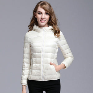 2017 Winter New Women's Down Coats Warm and Warm Ladies Jackets & Coat Slim Warm and Comfortable High Quality Multi-color S M L