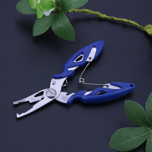 Multi-Functional Fishing Pliers Anti-Skid Stainless Scissors Line Cutter Braid Cutter Hook Remover Tackle Outdoor Fishing Tools