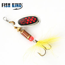 Load image into Gallery viewer, FISH KING MEPPS 6 Color 0#-5# Spinner Bait  With Mustad Treble Hooks 35647-BR Arttificial Bait Fishing Lure