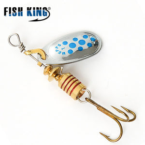 FISH KING MEPPS 6 Color 0#-5# Spinner Bait  With Mustad Treble Hooks 35647-BR Arttificial Bait Fishing Lure