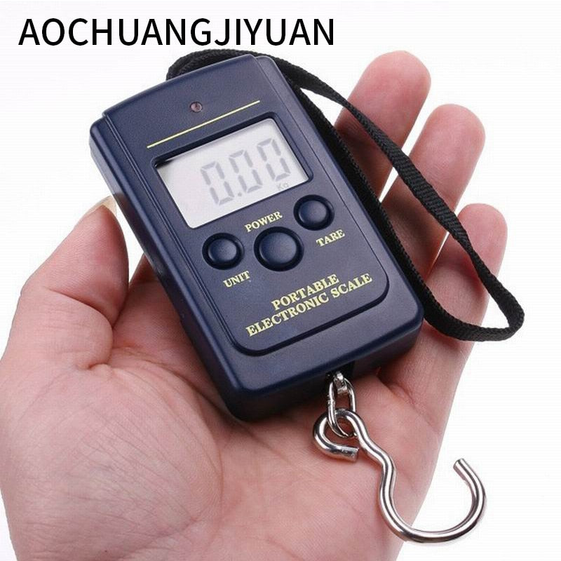 Hot Multifunctional Portable Mini 40kg/10g  Fishing Electronic Weighing  Balance Digital Scale Handy Pocket Weight Hook Scale