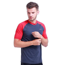 Load image into Gallery viewer, H.MILES Men's Rash Vest Short Sleeve Male Adults Rashguard Swim Base Layer Snorkeling Swimming Surfing Tops Diving Beach T-shirt