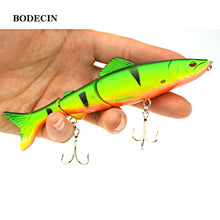 Load image into Gallery viewer, 1pcs 17.7g 125mm Fishing Wobblers Lure Wobbler Lures Bait For Fish Peche 3 Segments Minnow Swimbait Hard Baits With Steel Ball