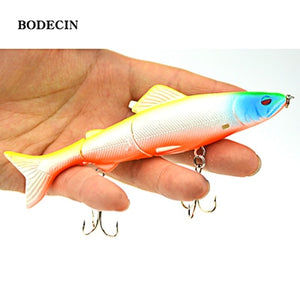 1pcs 17.7g 125mm Fishing Wobblers Lure Wobbler Lures Bait For Fish Peche 3 Segments Minnow Swimbait Hard Baits With Steel Ball