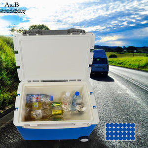 Box 2-Wheeled Cooler Food Beverage Storage Ice Chest 40L with Retractable Handle