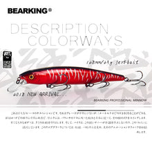 Load image into Gallery viewer, Bearking 2018 New hot model 128mm 23g professional quality fishing lures hard bait dive 1.5m quality wobblers minnow