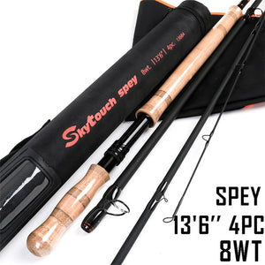 Maximumcatch Switch & Spey Fly Rod IM10 30T+40T Carbon Fiber Fast Action Fly Fishing Rod With Cordura Rod Tube