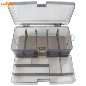 Dual Layer Fishing Tackle Box Accessories Lures Bait Storage Case Shrimp Boxes for  Lure Cover Organizer Baits Pesca Container
