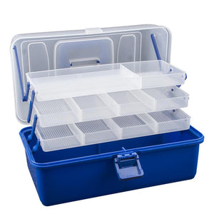 Waterproof Multi Layer Fishing Tackle Box Fly Fishing Storage Case Portable Fishing Gear Storage Box Strong Corrosion Resistant