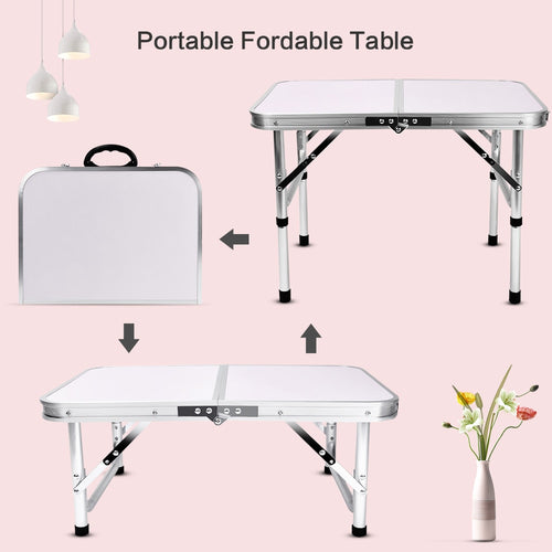 Original Aluminum Folding Camping Table Laptop Bed Desk
