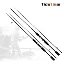 Load image into Gallery viewer, Tideliner spinning casting fishing rod 1.8m carbon fiber lure rod baitcasting ultralight fishing pole lure weight 10-30g MH