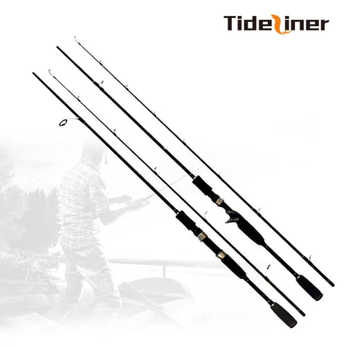 Tideliner spinning casting fishing rod 1.8m carbon fiber lure rod baitcasting ultralight fishing pole lure weight 10-30g MH