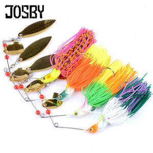 JOSBY 1pc/lot 14g 17g 20.5g 24g spinner bait fishing lure Rotating composite sequins metal bait Buzzbait wobbler chatter