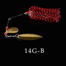 Load image into Gallery viewer, JOSBY 1pc/lot 14g 17g 20.5g 24g spinner bait fishing lure Rotating composite sequins metal bait Buzzbait wobbler chatter
